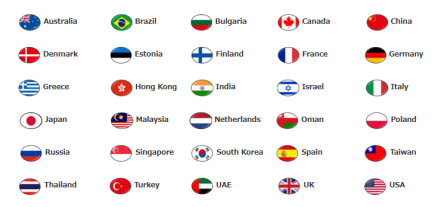 List of exhibiting countries/regions (2018)